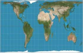 Gall-Peters projection of Planet Earth