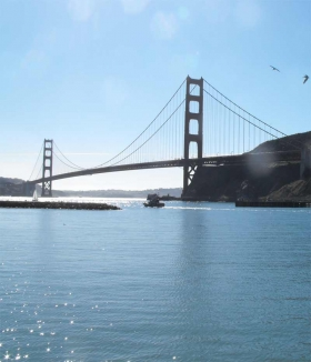 [Golden Gate Bridge seen from North East]
