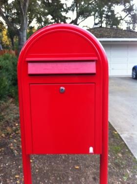 [photo: Charlotte's mailbox]