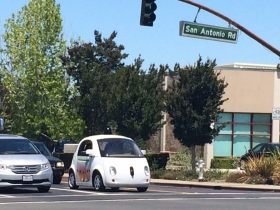 Selfdriving Google car