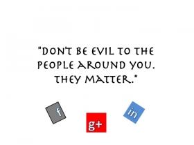 Google/FB/Linkedin motto medley, US DK Expats
